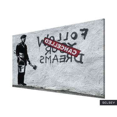 Obraz - Follow Your Dreams Cancelled Canvas Print by Banksy 60x40 cm