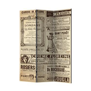 Parawan 3-częściowy - Vintage Magazines