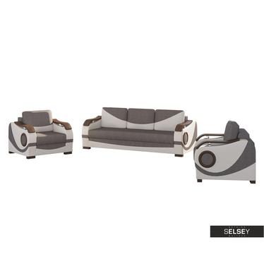 Komplet Flow kanapa i dwa fotele