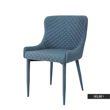 Krzesło tapicerowane Lippia denim