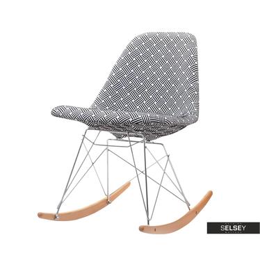 Krzesło bujane MPC roc tap modern wypoczynkowy fotel bujany