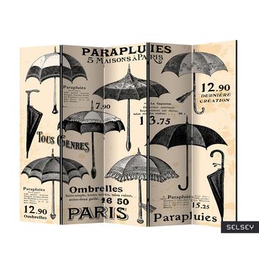 Parawan 5-częściowy - Vintage Umbrellas