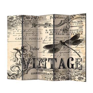 Parawan 5-częściowy - Vintage Correspondence