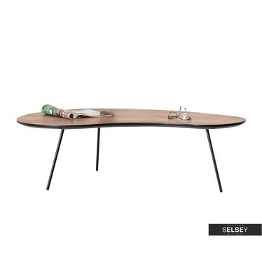 Stolik kawowy Sinus 122x67 cm orzech - czarny w stylu vintage