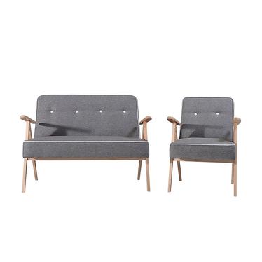 Komplet wypoczynkowy MidCentury sofa i dwa fotele