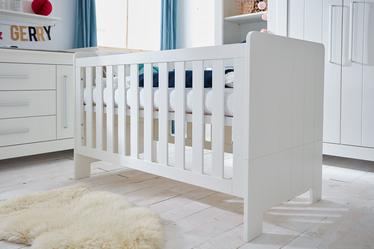 Łóżeczko dziecięce Calmo białe tapczanik