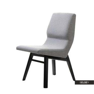 Krzesło Fondi szare designerskie na drewnianych nogach