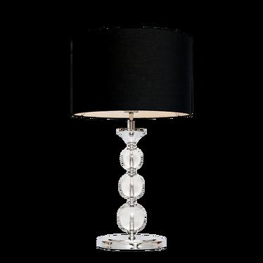 Lampa stołowa Crystal czarna