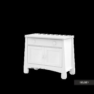 Komoda dwudrzwiowa Parole z szufladą biała