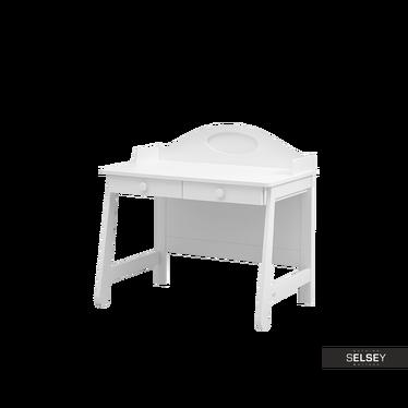 Biurko Parole białe z dwiema szufladami