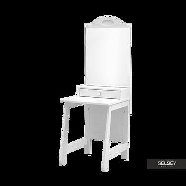 Toaletka Parole biała z lustrem