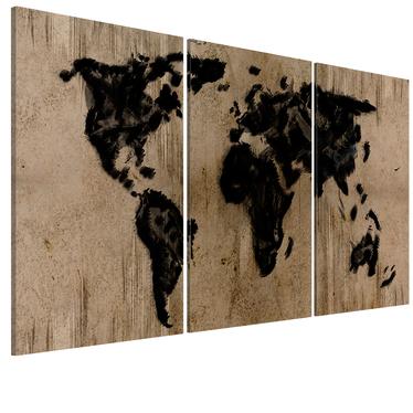 Obraz - Atramentowa mapa świata 120x60 cm