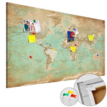 Tablica korkowa Seledynowa podróż