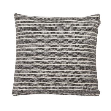 Poduszka z poszewką Winford biało-czarna 45x45 cm