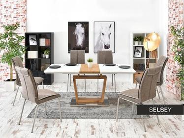 Stół rozkładany Trento 140(180)x90 cm biały - dąb