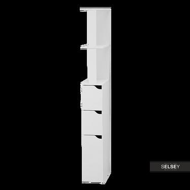 Regał łazienkowy Carinda biały