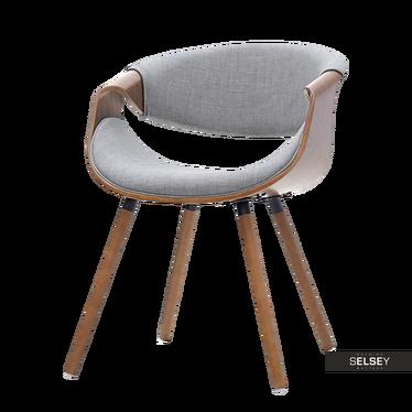 Krzesło Bent orzech - szary