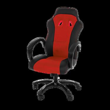 Fotel biurowy Mets czarno - czerwony