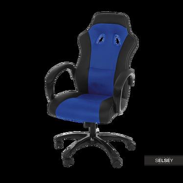 Fotel biurowy Mets czarno - niebieski