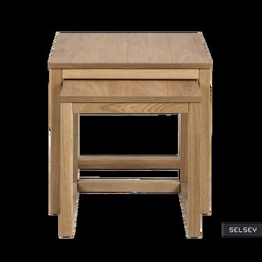 Zestaw dwóch stolików kawowych Freya 50x50 cm i 44x41,5 cm