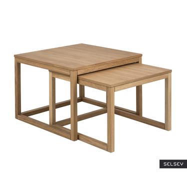 Zestaw dwóch stolików kawowych Freya 70x70 cm i 64x61,5 cm