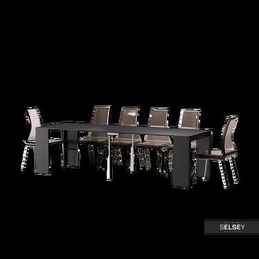 Francuski stół rozkładany Awinion czarny