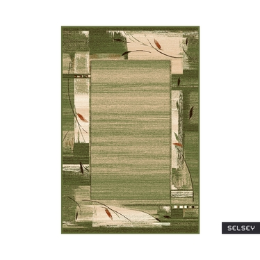 Dywan Basal Abstrakcja 6 zielony