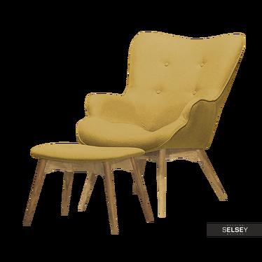 Fotel Blomstor z podnóżkiem