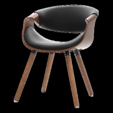 Krzesło Bent orzech - czarny