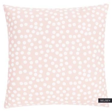 Poduszka z poszewką Allover Dots różowa 45x45 cm