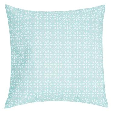 Poduszka z poszewką Daisy Flower niebieska 47x47 cm
