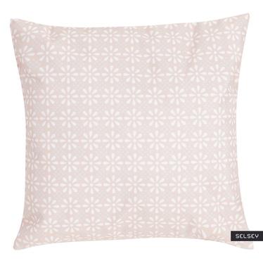 Poduszka z poszewką Daisy Flower różowa 47x47 cm