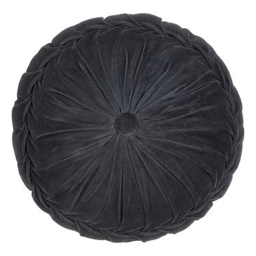 Poduszka z poszewką Kanan Velvet antracyt 40x10cm