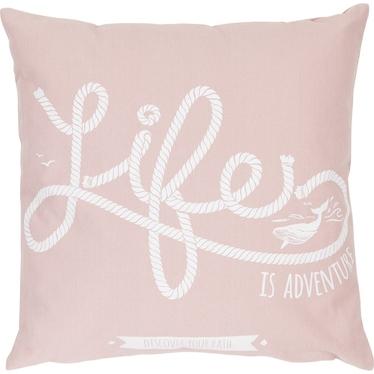 Poduszka z poszewką Life różowa 47x47 cm