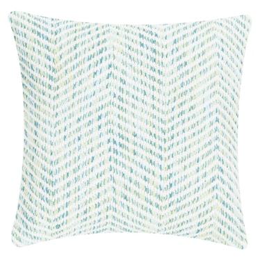 Poduszka z poszewką Melange Zigzag niebieska 45x45 cm