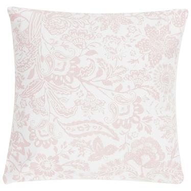 Poduszka z poszewką Paisley Flower biało różowa 45x45 cm