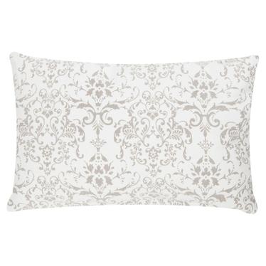 Poduszka z poszewką Stonewash Ornament beżowo biała 30x50 cm