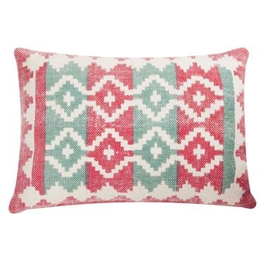 Poduszka z poszewką Summer Kelim różowo miętowa 45x65 cm