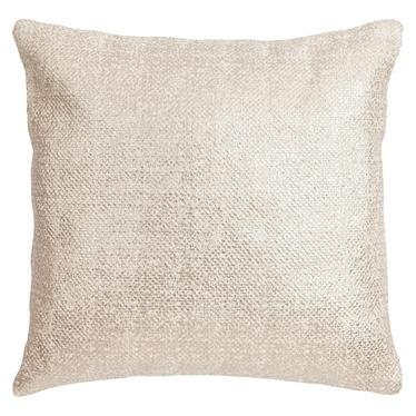 Poduszka z poszewką Heavy biała z miedzią 45x45 cm