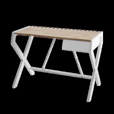 Biurko Designo białe z szufladą w minimalistycznym stylu