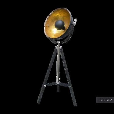 Lampa podłogowa Gravity czarna ze złotym wnętrzem