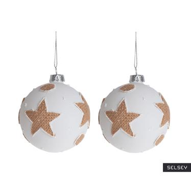 Bombki Płócienne Gwiazdy 8 cm x2