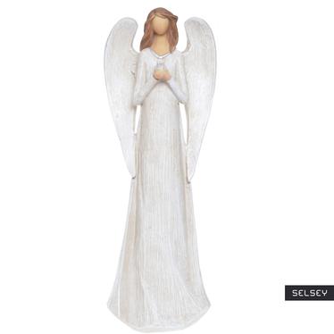 Anioł smukły z gołąbkiem 31 cm