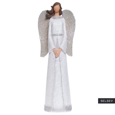 Anioł galeryjny z brokatowymi skrzydłami 30,5 cm