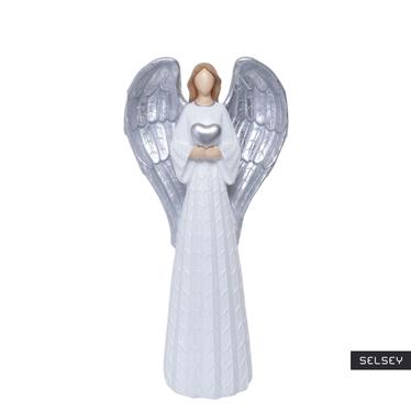 Anioł ze srebrnymi skrzydłami 54 cm
