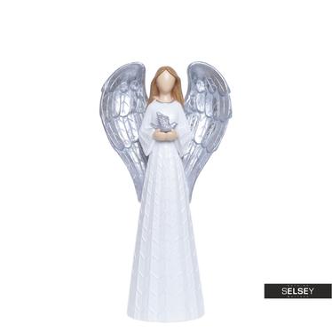 Anioł ze srebrnymi skrzydłami 26 cm