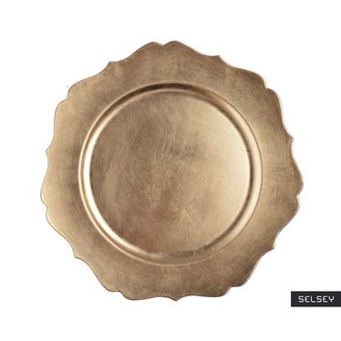 Podtalerz złoty z pofalowanym brzegiem 33 cm