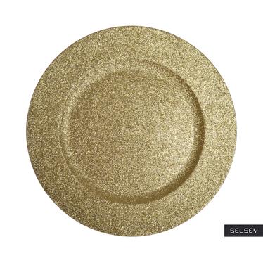 Podtalerz złoty z brokatem 33 cm