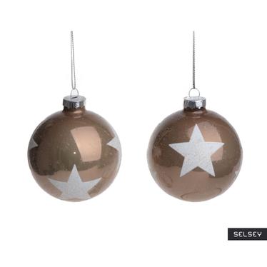 Bombki Szampańskie w gwiazdy 8 cm x2