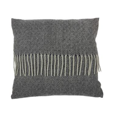 Poduszka z poszewką Kenley biało-czarna 45x45 cm